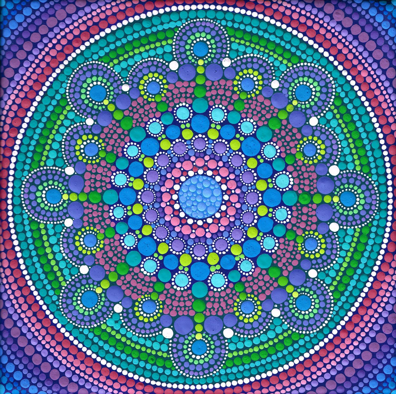 Cool Tone Drop Mandala