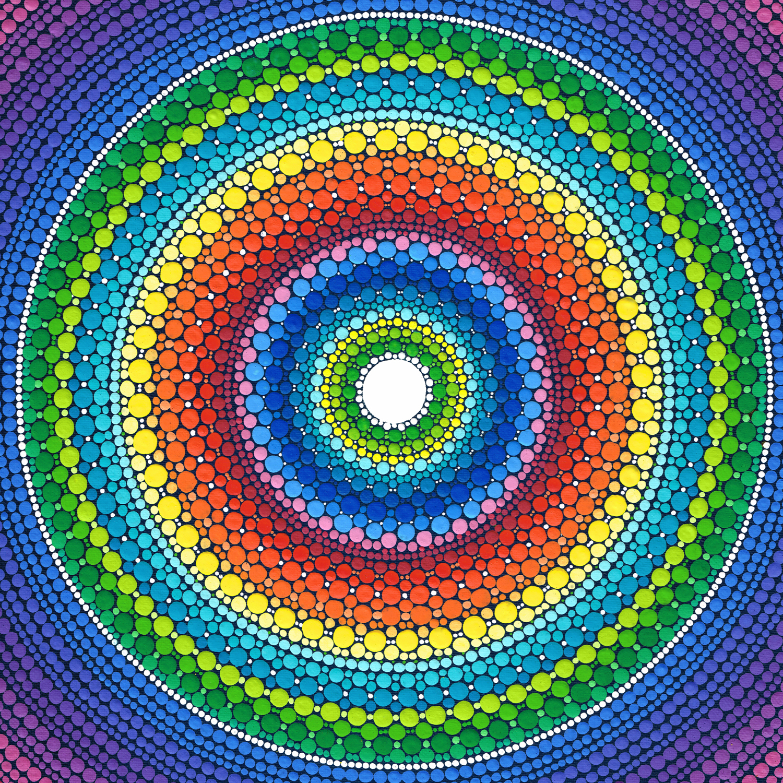 Happy Rainbow Mandala