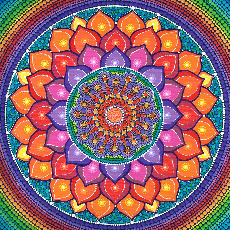 Lotus Mandala Rainbow