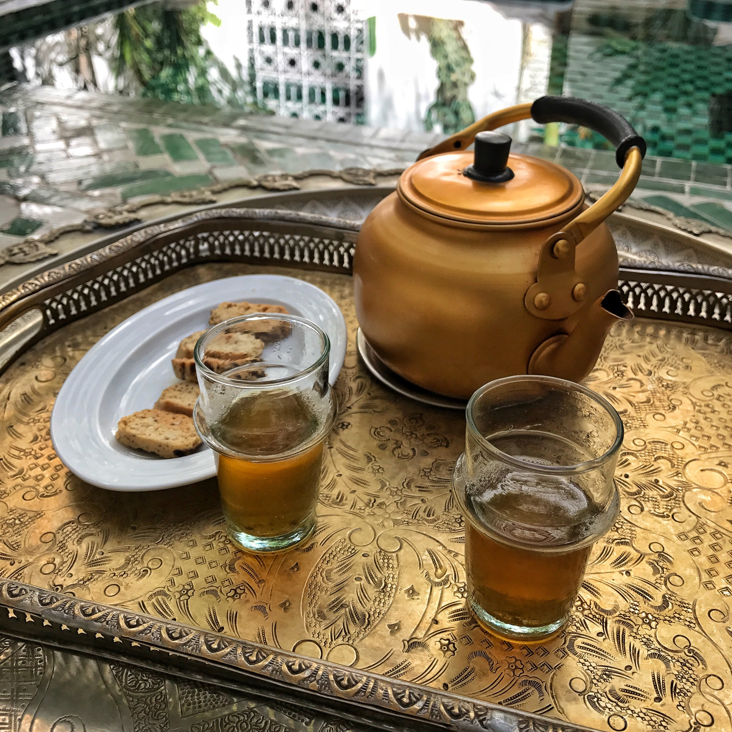 Moroccan tea! mmm