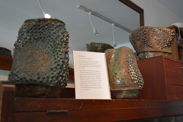 Clay vessels by Greenport artist Dena Zemsky. (Credit:Monique Singh-Roy)
