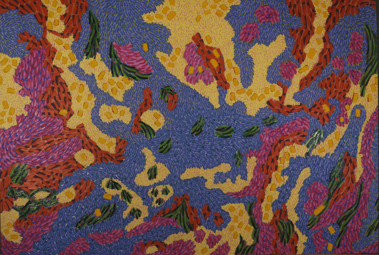 Map #37 (1989) Oil on Canvas 6' X 9'