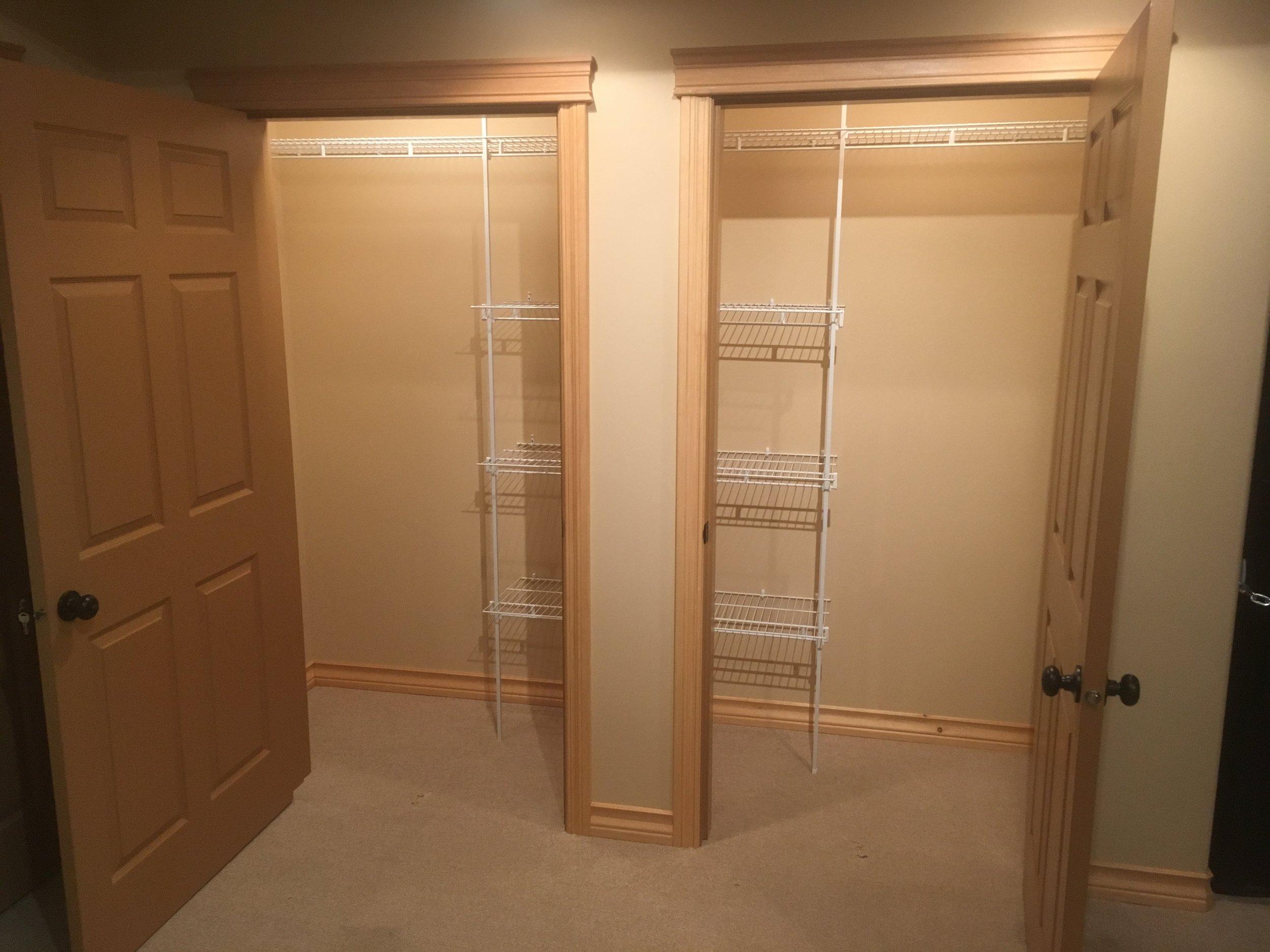 Closet & laundry room renovations in Kimberley, BC.
