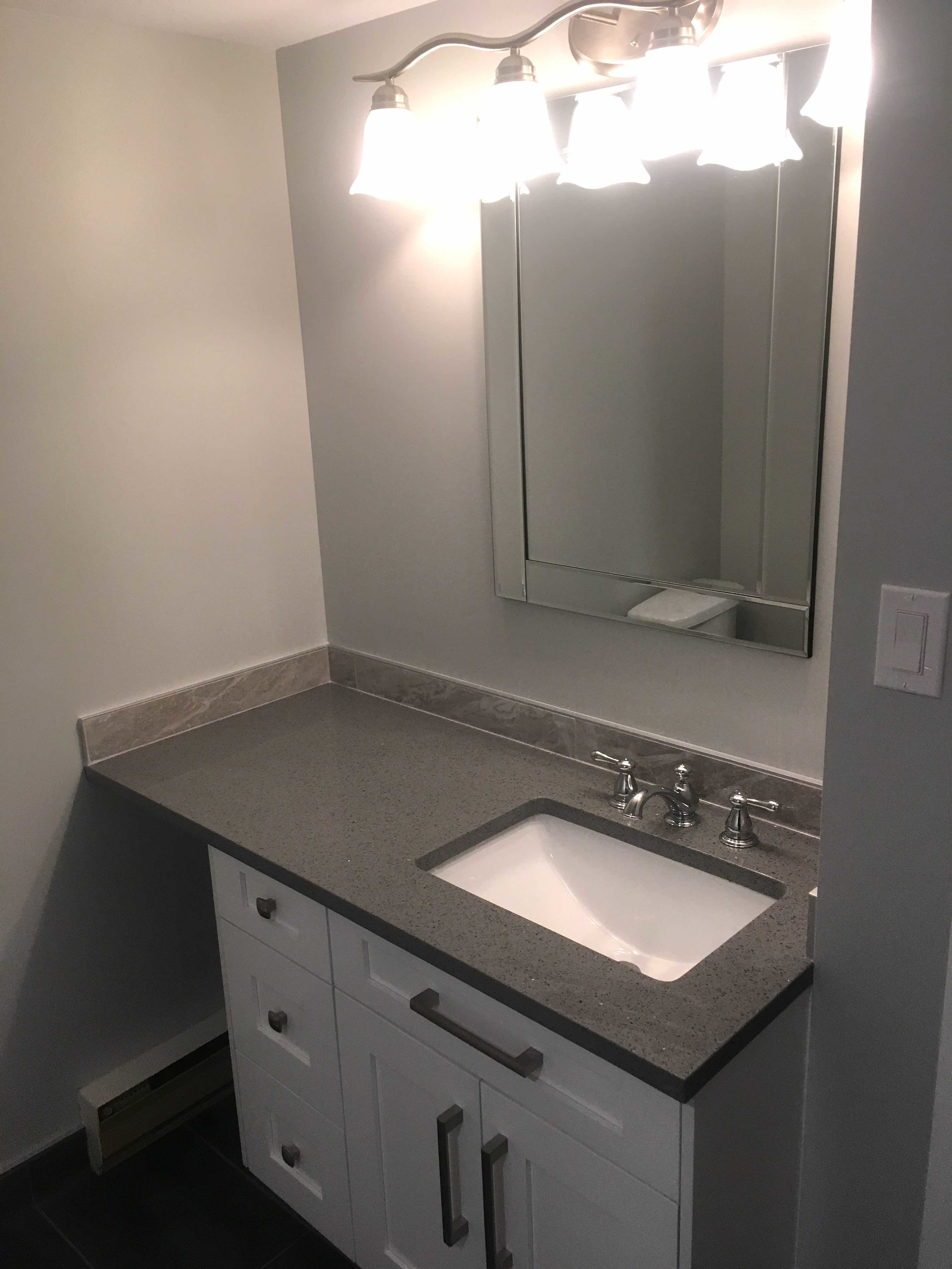 Bathroom renovation in a Kimberley, BC ski resort condo - after.