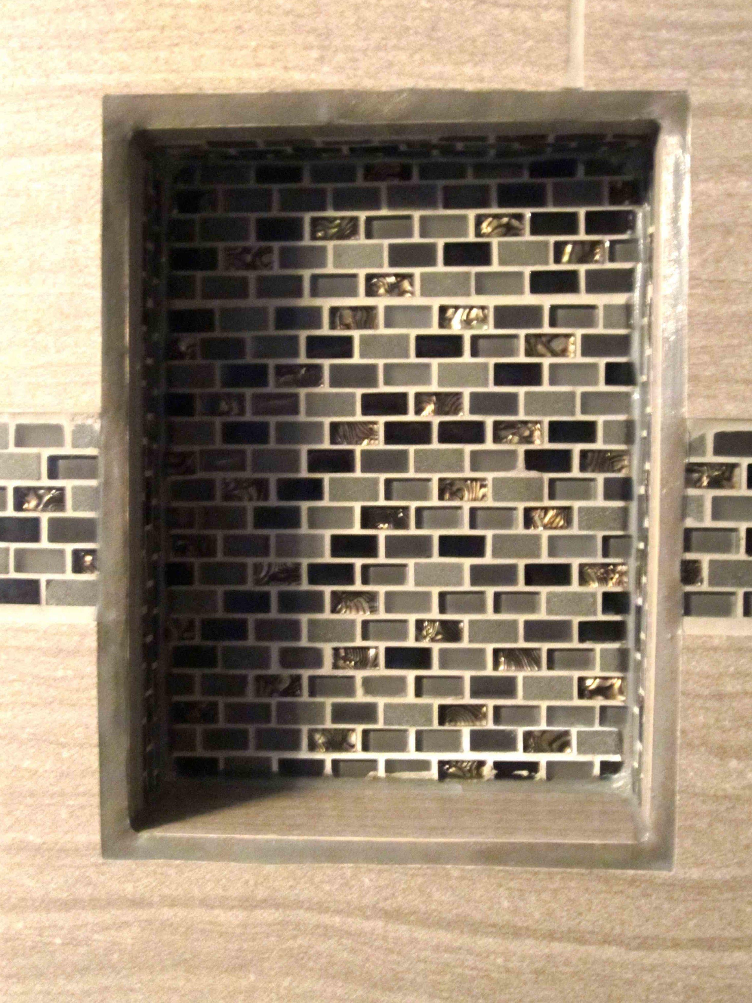 Smart storage solution in a bathroom shower
