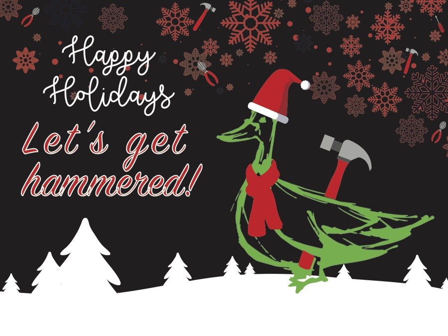 The 2018 Green Goose Renovations & Construction Christmas card.