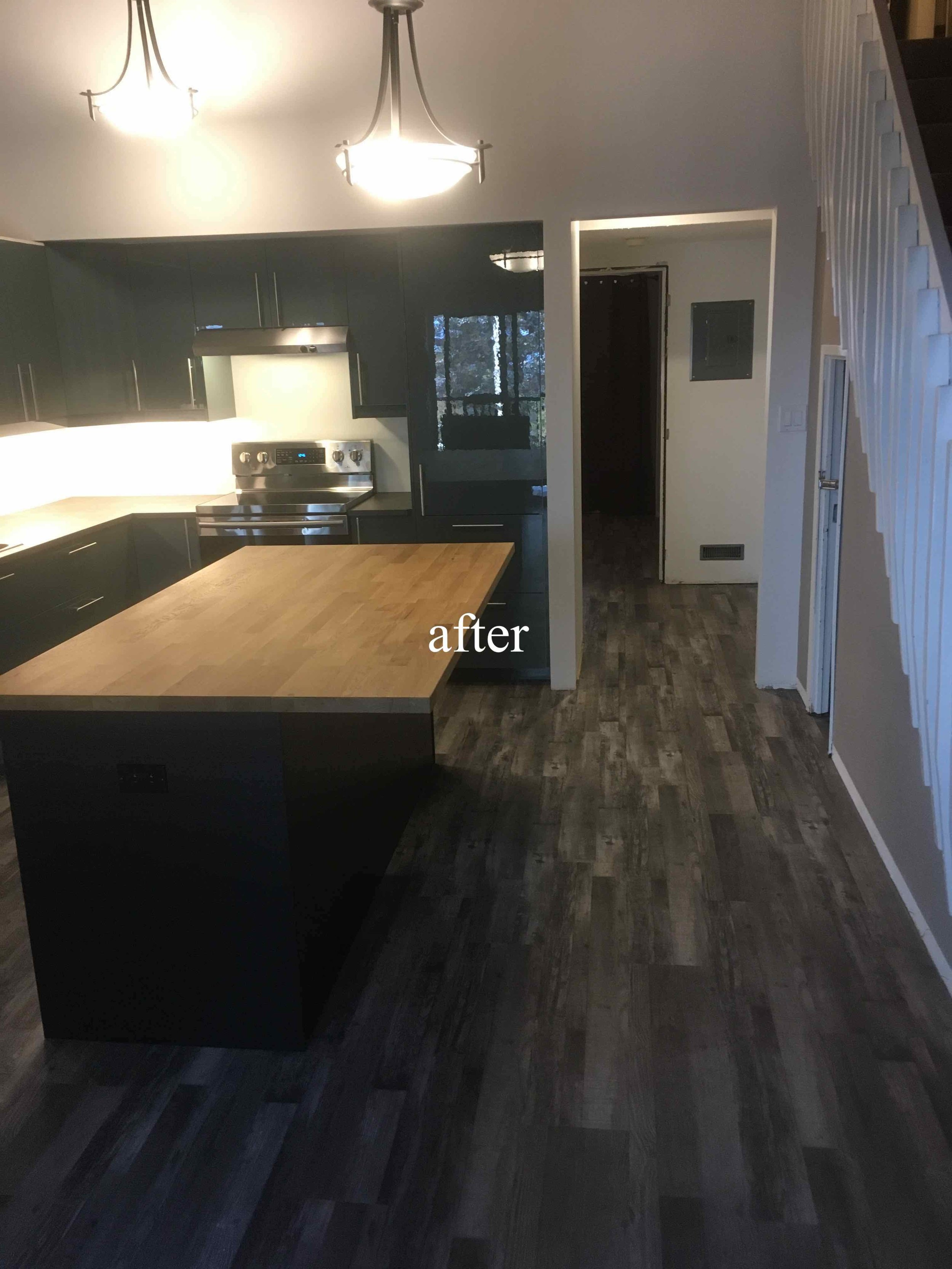 Kimberley ski condo kitchen renovation after photo.
