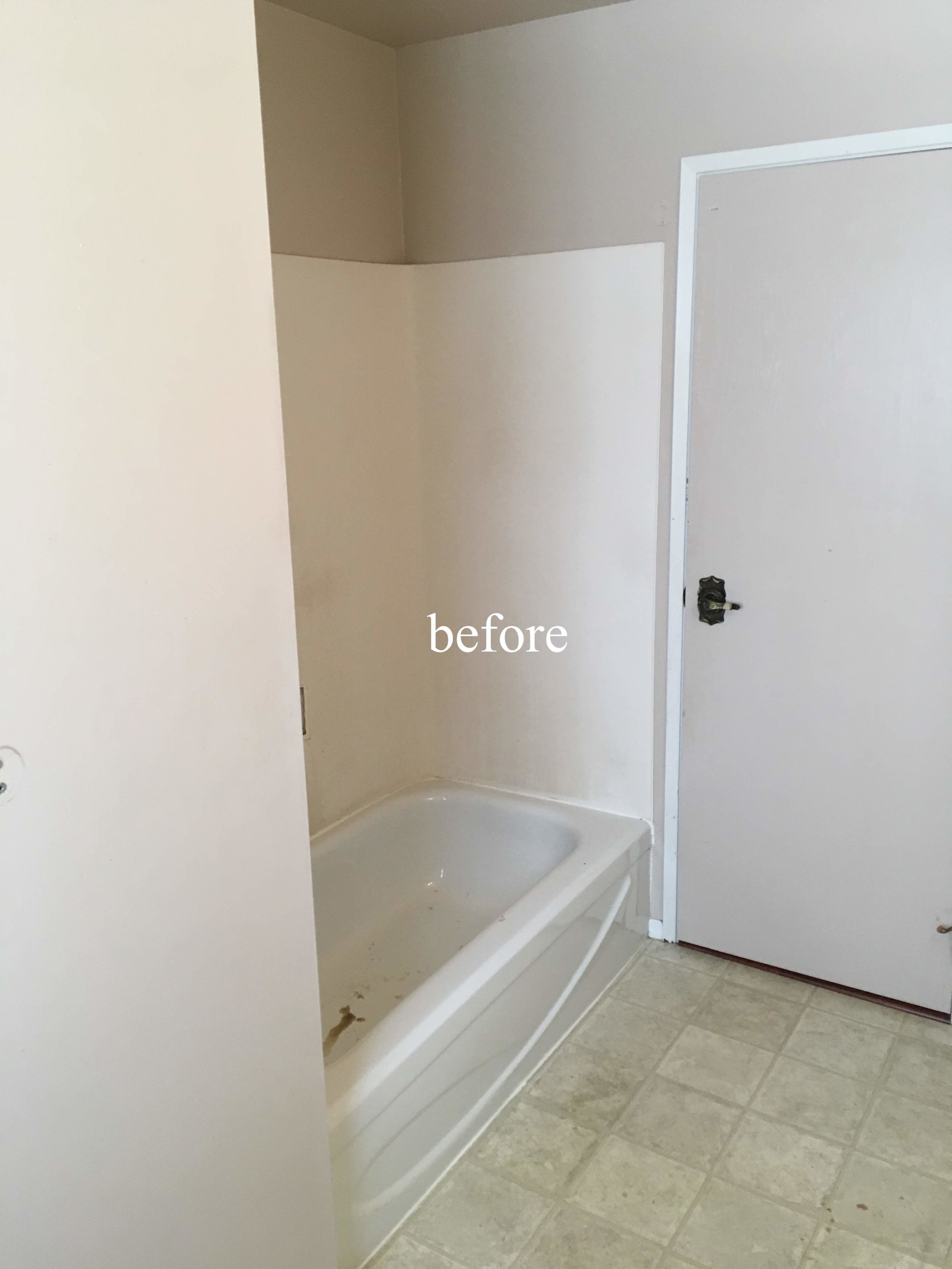 Kimberley, BC bathroom renovation before picture.