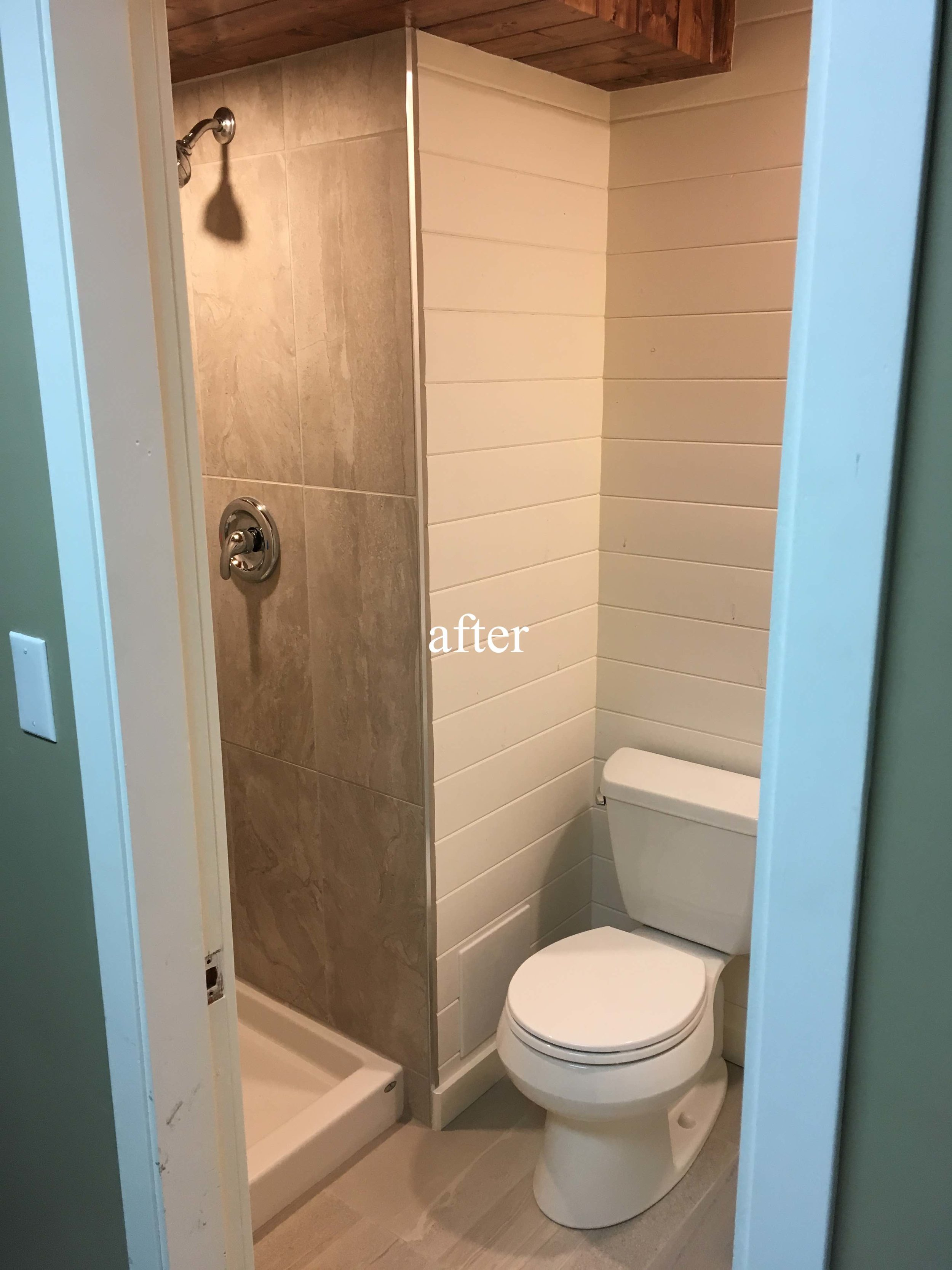 New bathroom, Kimberley, BC after picture.
