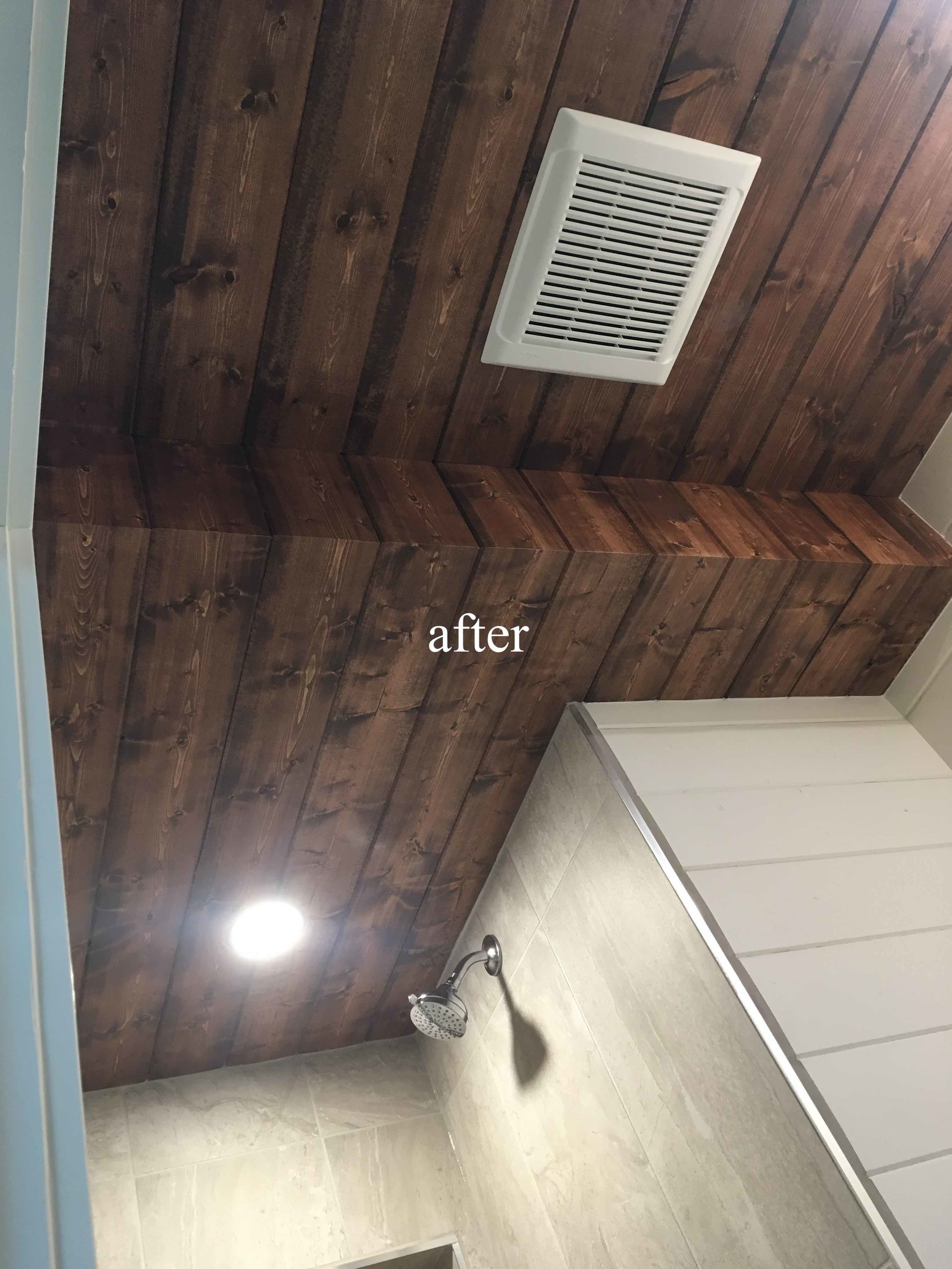 New bathroom ceiling, Kimberley, BC after picture.