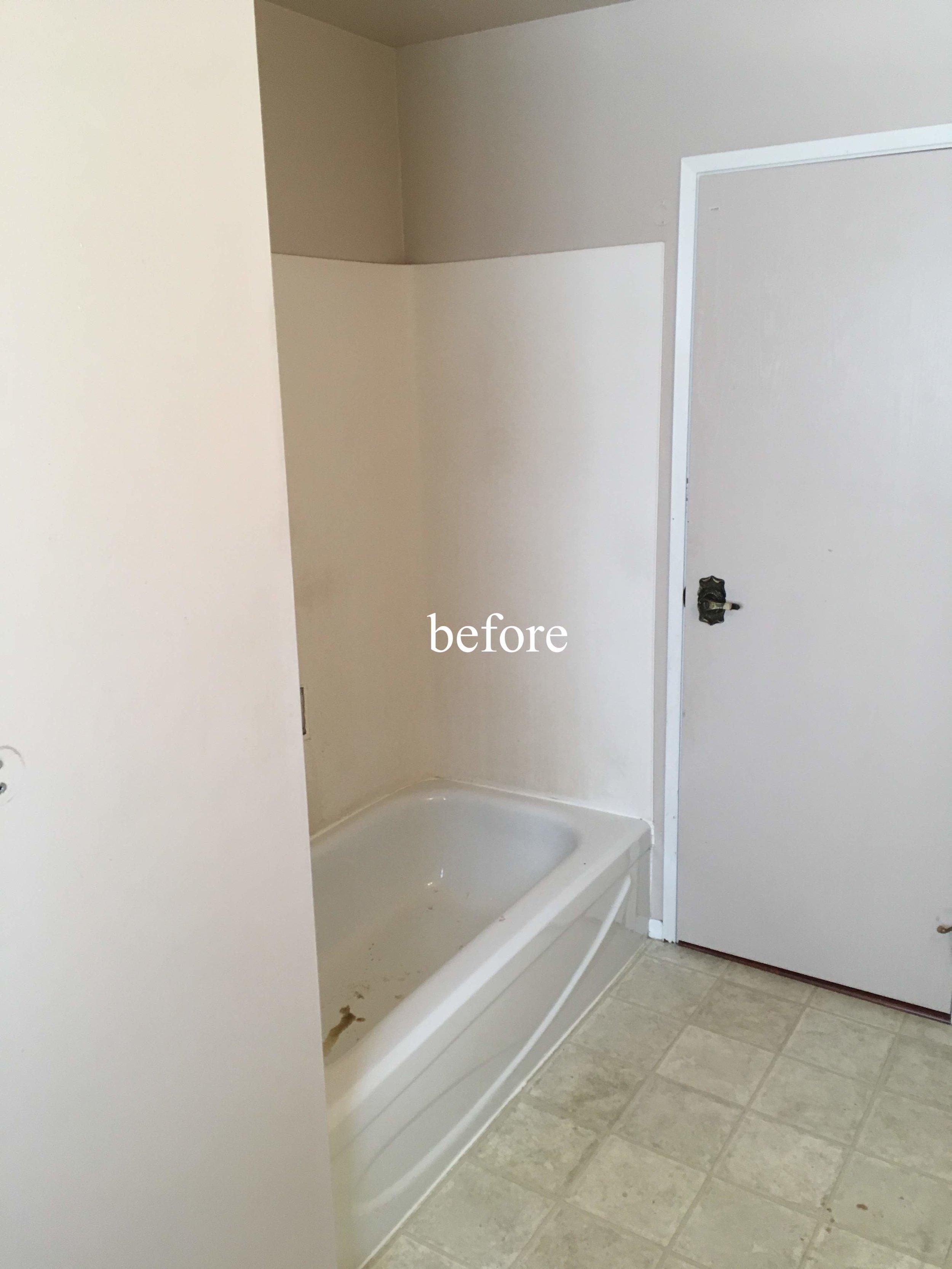 Before a bathroom renovation in Kimberley, BC, East Kootenays.