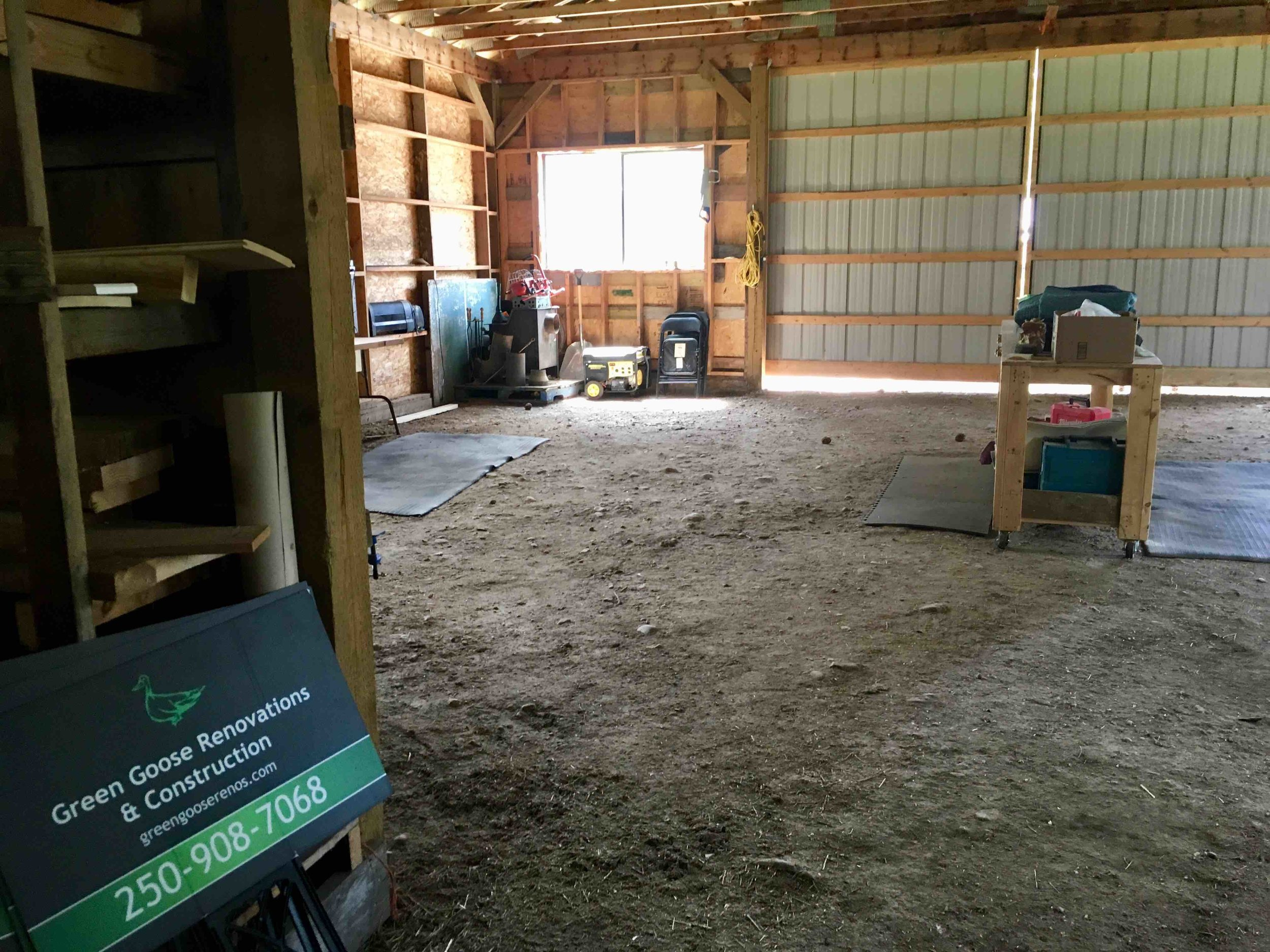Clean and tidy (all the tools are on a job site right now) and ready to be filled with custom made barn doors!
