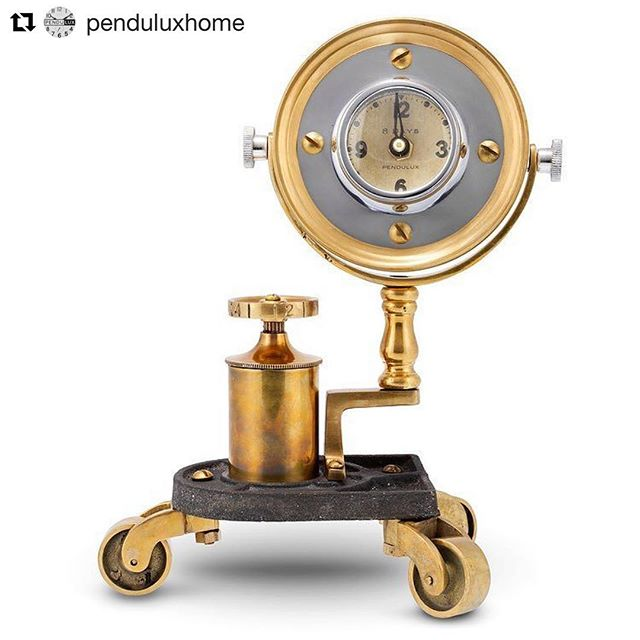 #Repost @penduluxhome (@get_repost) ・・・ Contact us for your local sales rep • The Gizmo Table Clock is a mysterious timekeeping contraption, born from parts whose original functions remain unknown. That alone makes it not only unique, but a conversation piece. #uniquehomes #homedecor #oneofakind #clockdesign #interiordesign #time #mystery #steampunk #timekeeping #toys #pendulux #penduluxhome #whimsical #whimsy #vintagedecor #retrodecor #tableclock #officedecor #mangift #interiorstyling #sandiego #losangeles #santabarbara #orangecounty #palmsprings #coronado