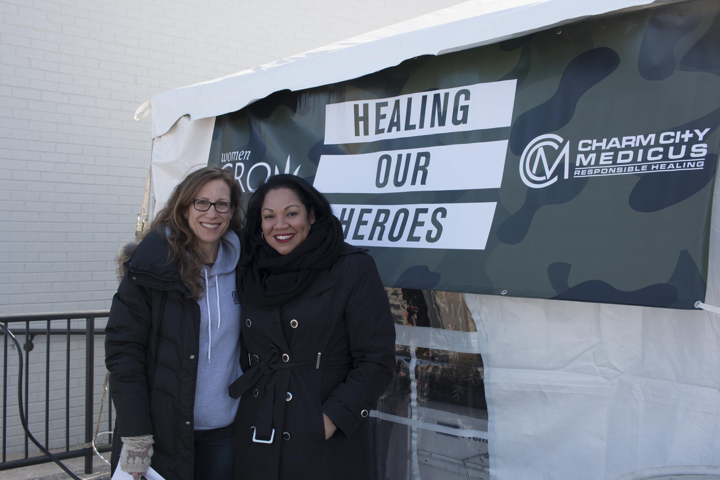 Event organizers Jennifer Culpepper of Brand Joint and Chanda Macias of National Holistic Healing Center/Women Grow DMV