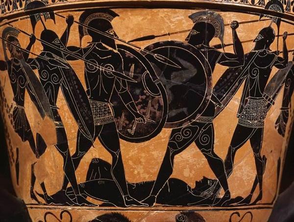 Fight over Patroklos  (Exekias, c. 530 bc )