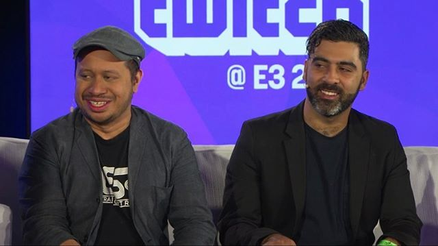 So dope chatting about and previewing @nostraightroads w @wan.hazmer yesterday live @e3expo. Thanks for having us @twitch! 🙏😎