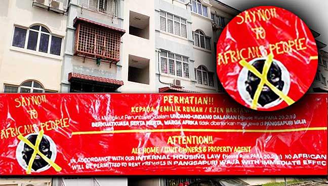 Anti-African flyers distributed to several condominiums in Kuala Lumpur