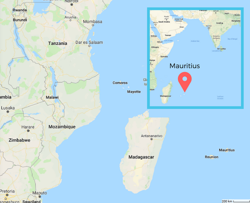 While part of Africa, Mauritius is very remote from the mainland and even Madagascar