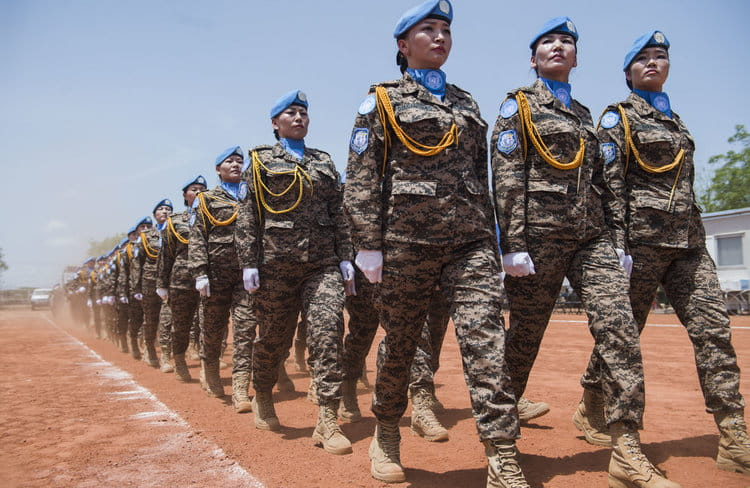 Mongolian Peacekeepers, MONBATT VI, awarded medal for outstanding service in Bentiu |  UNITED NATIONS