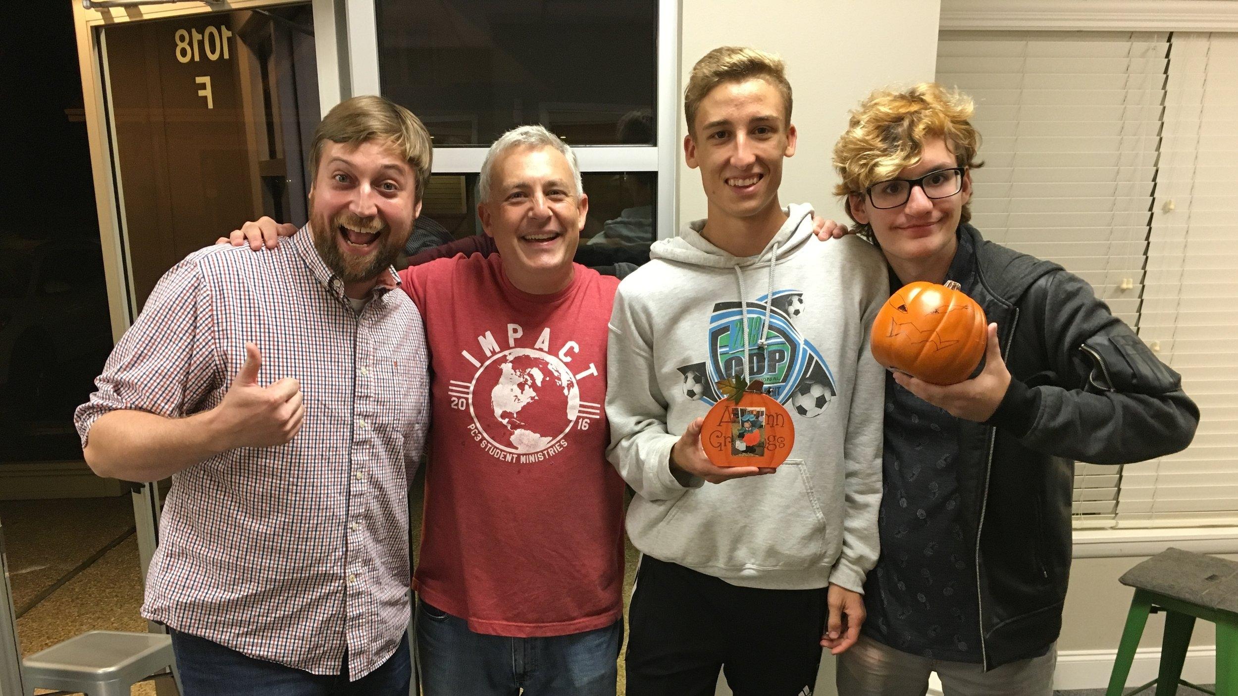 Senor Sharks - Congratulations to the Nate, Chris, Liam & Nicholas the 2018 Leland Pumpkin Hunt champions!