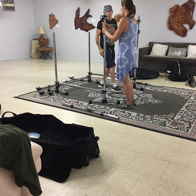 Setting up the gongs. #healing vibrations#energy healing#gratitude#love#art gallery in pa#art events in pa