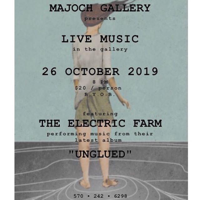 Our first music event! Join us for an evening of music as The Electric Farm will@be performing in the Gallery#music#theelectricfarm#majochgalleryevent#musicinthepiconos
