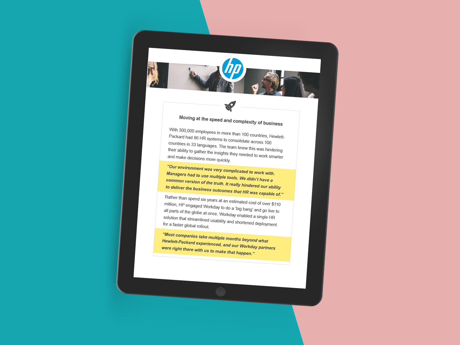 HP Case Study - Creating a template using Indesign incorporating grid based layout with icons and image banners.