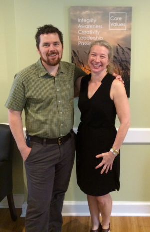 Neill Yelverton with Green Century Investments President, Leslie Samuelrich