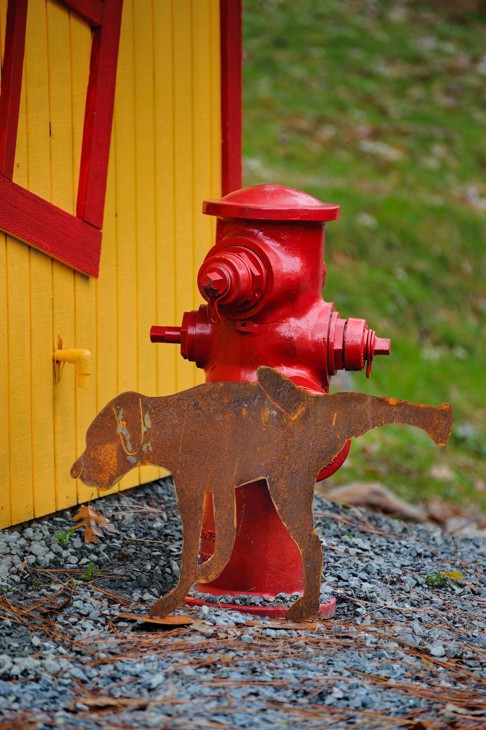 Peeing Dog $85 (Fireplug not included)