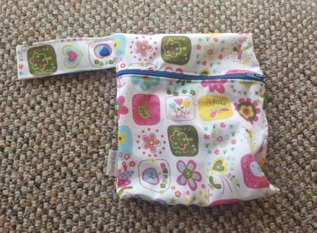A wet bag I had made for me by a local mum in Ireland!