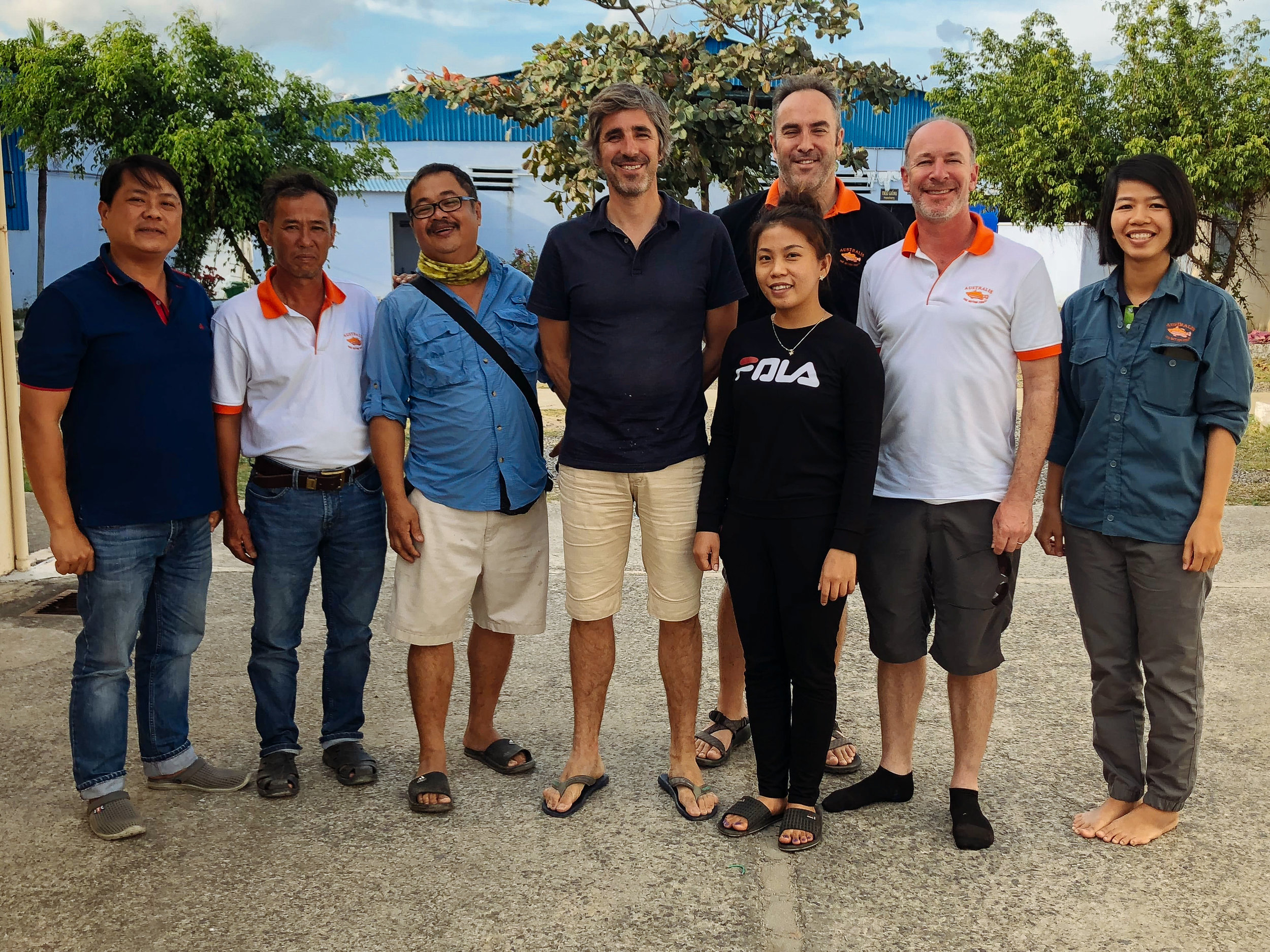 Greener Grazing project members meet at Australis Aquaculture Vietnam