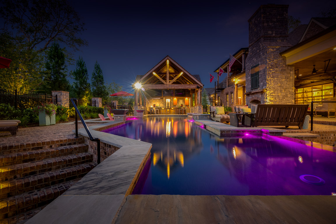 domophotos real estate twilight photography - Franklin, TN pool