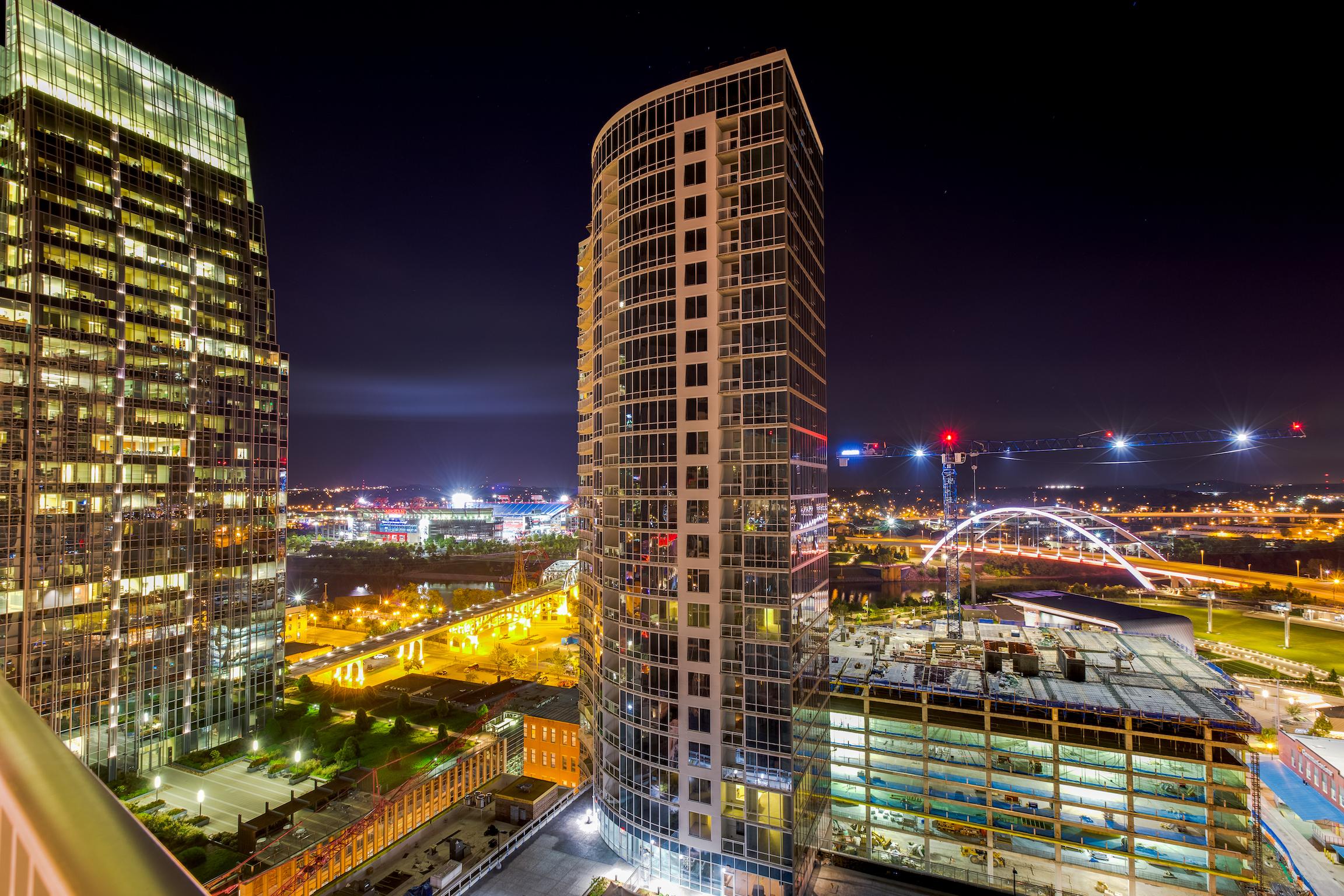 domophotos real estate twilight photography - Downtown Nashville, TN