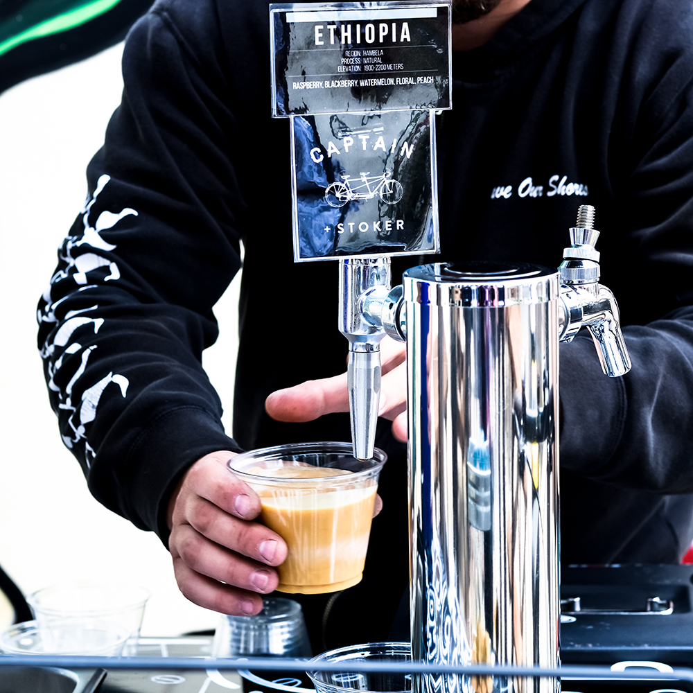 Nitro Cycle - Run by the same gentlemen behind Green Pedal Couriers, Nitro Cycle offers Captain and Stoker nitrogen-infused coffee on draft. Taste the draft coffee for yourself when we stop by the Salvador Dali Expo on the Old Monterey Food Tour.