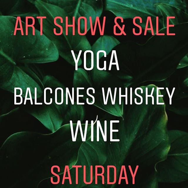 Saturday! Yoga, Wine, Whiskey & Art We're doing a little bit of everything this Saturday. We will first slow flow with @superyogapalace & @jennaclarkofficial @10:00. Set up is at 9:45. $10 tickets in bio.. We will then taste wine AND Texas' own @balconesdistilling whiskey all day and into the night as we host our first Booker T Washington Young Artists Show & Art Sale! Badass Balcones brand ambassador @tonecastillo will be here from 1-4 to taste us through their latest creations. Art will be on display throughout the day with the reception and sale from 6pm-8pm. All art sale proceeds go directly to the students. Bring cash! PayPal & Venmo also accepted. Join us... #originalart #balcones #drinkbetterfeelbetter #betterboozebettertomorrow #natdallas #supportyoungartists