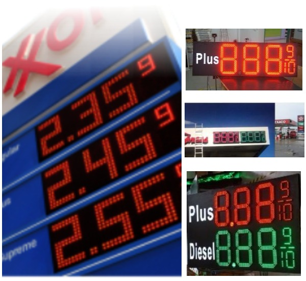 LED Gas Price Signs