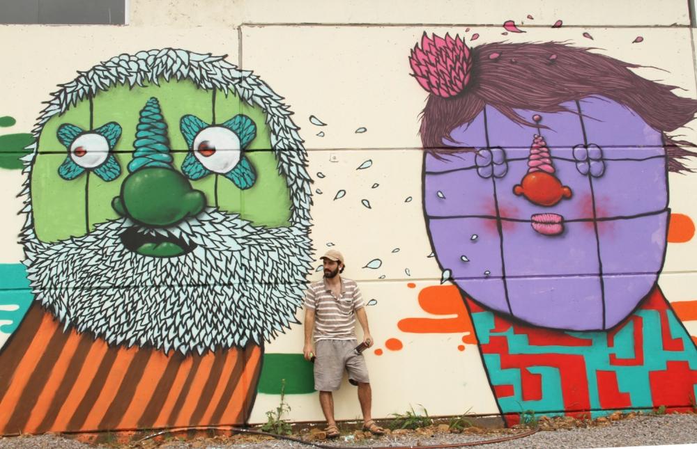 Grafite na fábrica de cervejas artesanais Solerun, de Nova Prata (Foto de Marco Nedeff)