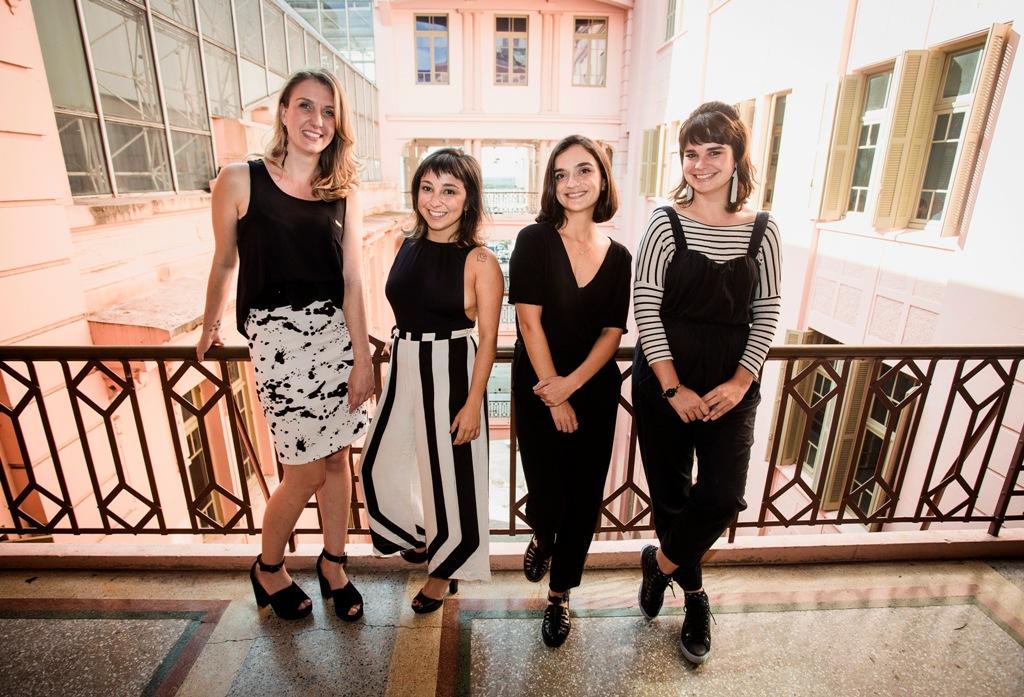 Renata, Fernanda, Amora e Raquel, criadoras do  Mapeando POA  (Foto Ricardo Lage/Divulgação)