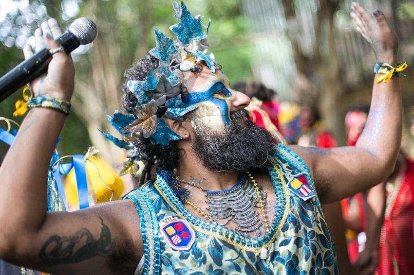 O ator Diego Machado, do núcleo de fundadores do Bloco da Laje