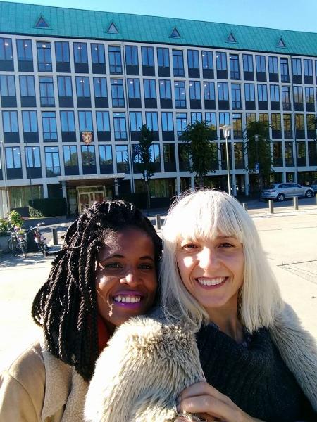 Em Oslo, com Djamila Ribeiro, para encontros com acadêmicos, parlamentares e representantes do governo, a convite da embaixada da Noruega no Brasil