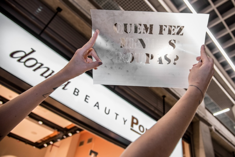 Fashion Revolution em Porto Alegre: no Brasil, capital gaúcha é a cidade com maior grau de engajamento (Foto/Luis Felipe Matos)