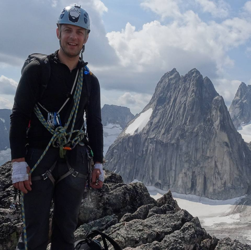 On top of Crescent Spire in The Bugaboos