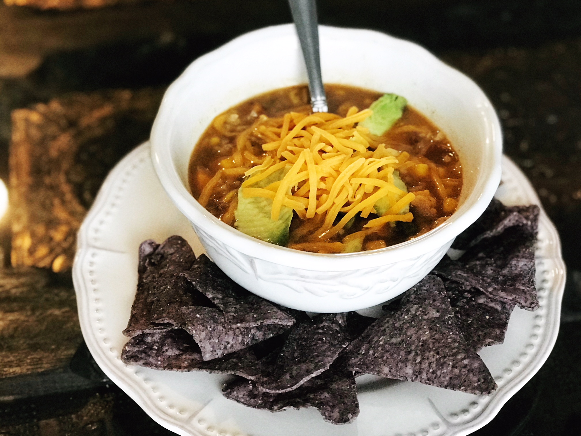 Taco soup for the soul. - Vegetarian and or vegan
