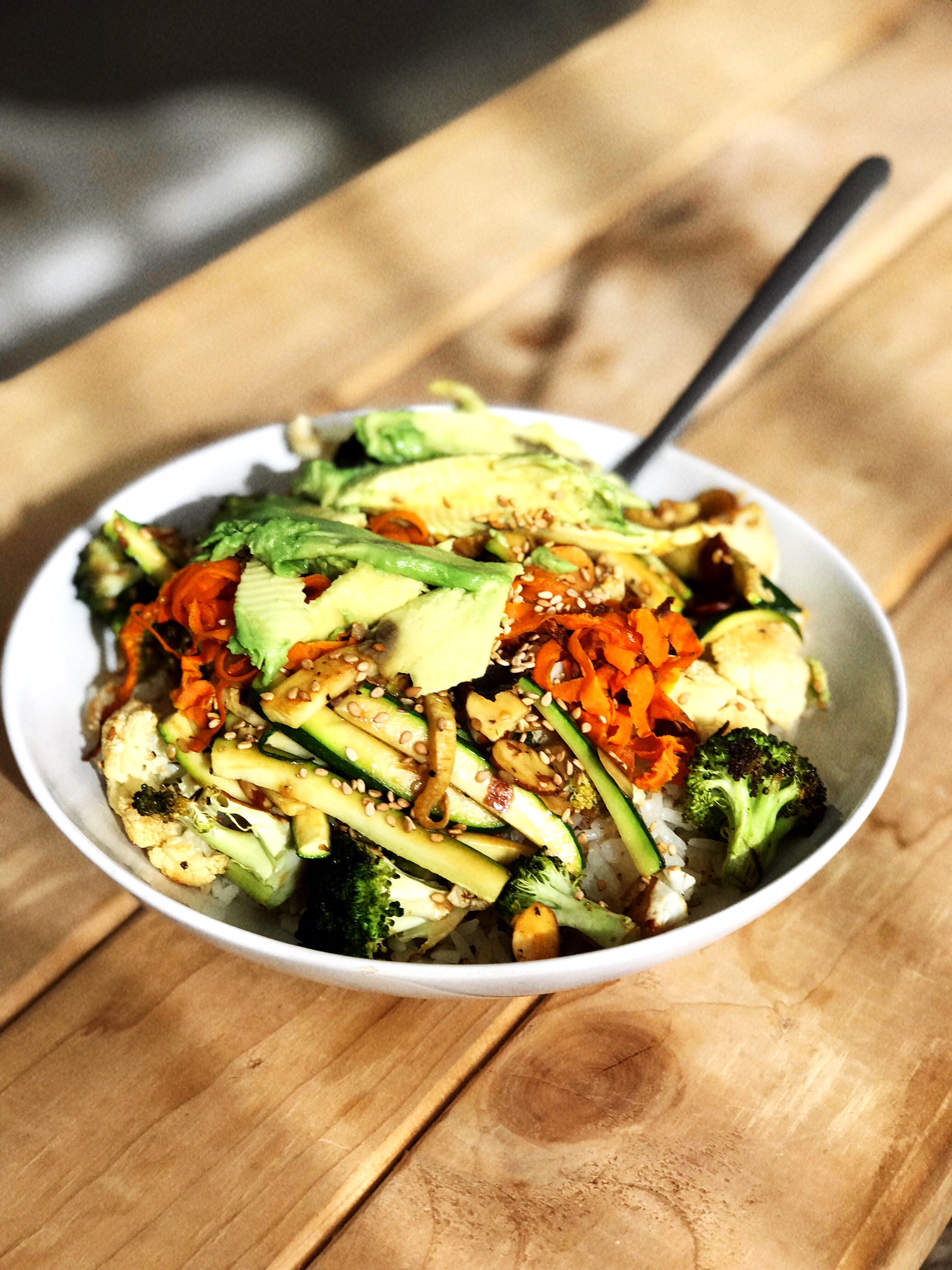 Healthy Asian Veggie & Rice Bowl -