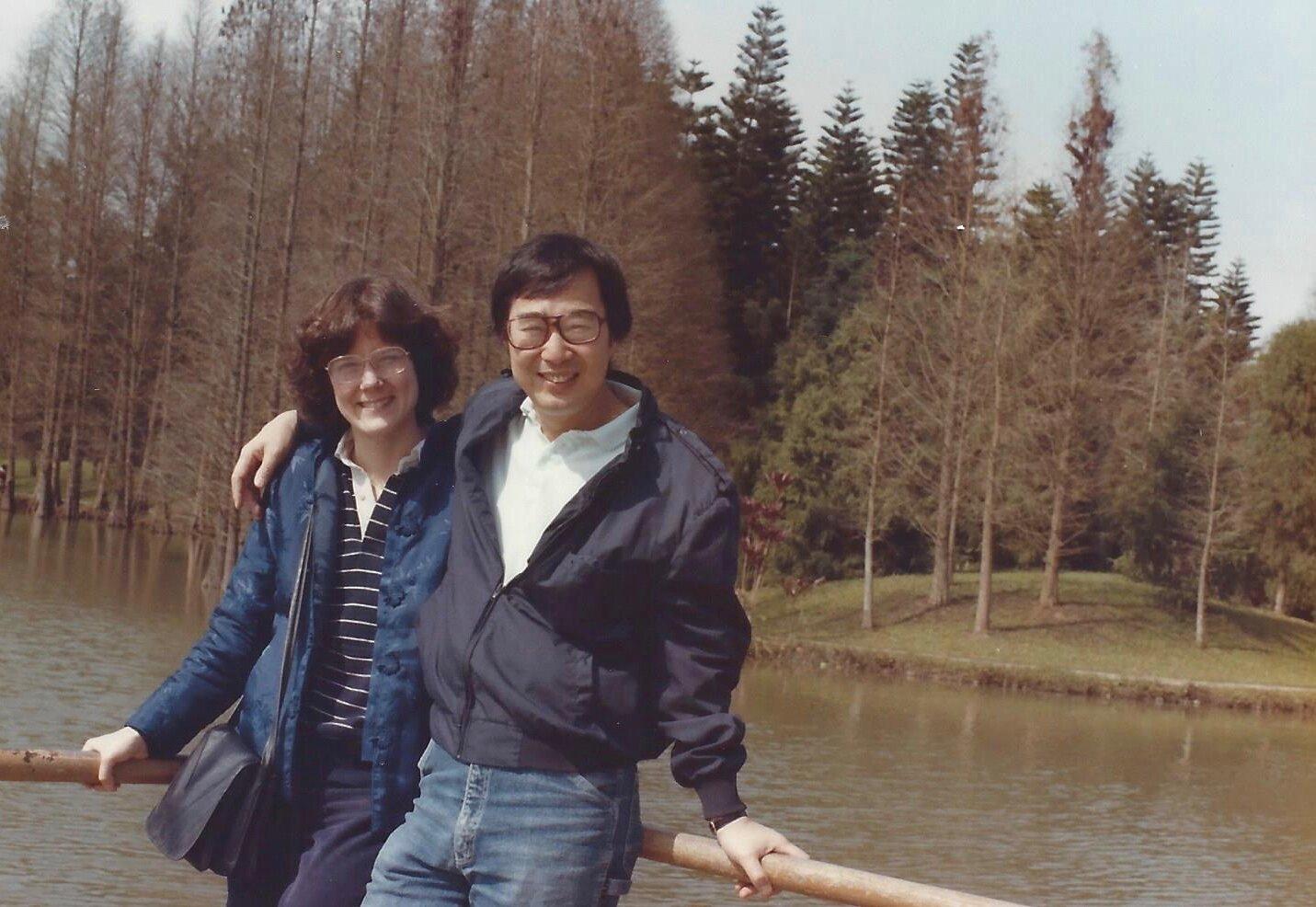 Dori and Paul in Guangzhou, 1985.
