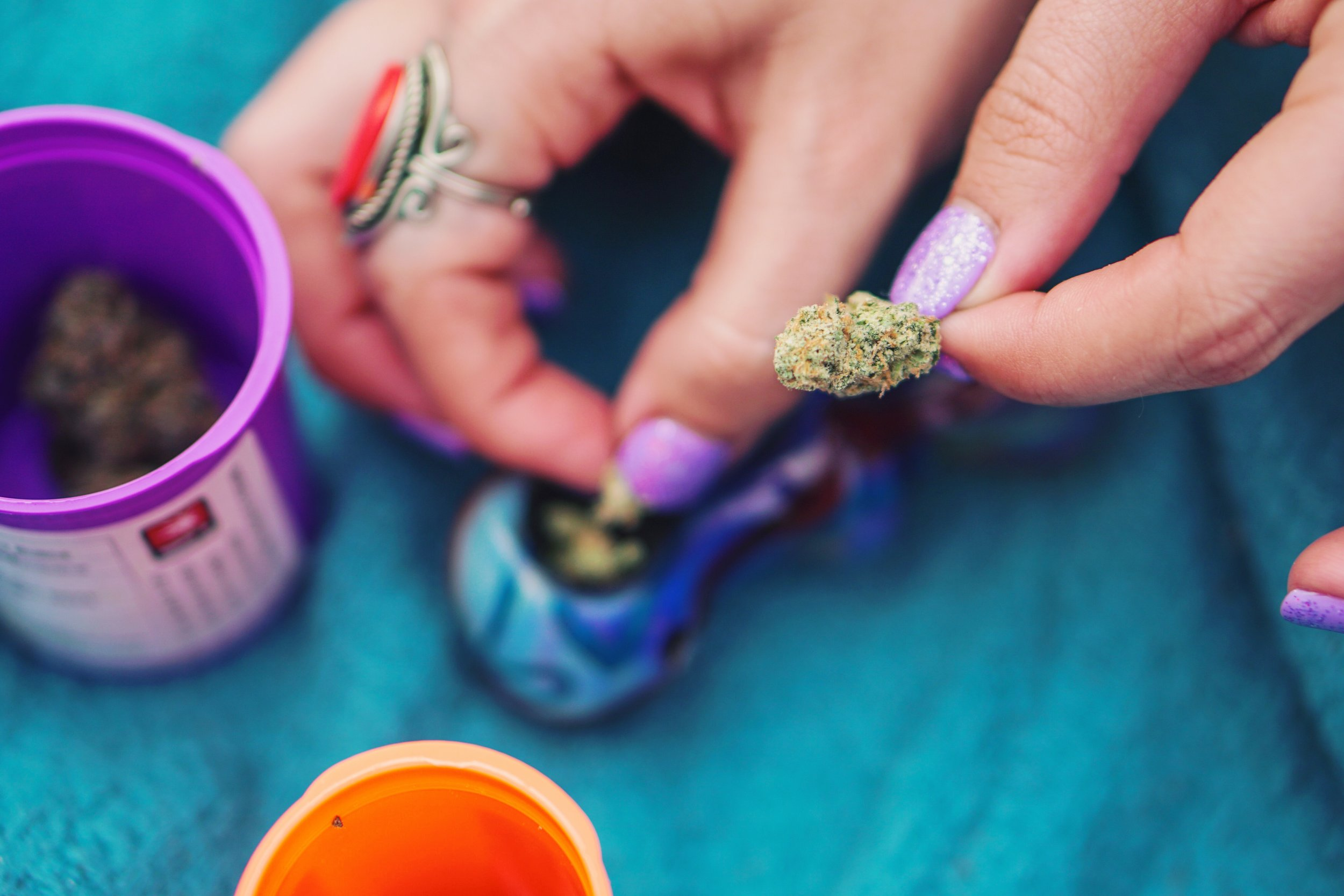 female-breaking-up-cannabis-flower-and-loading-it-into-a-pipe-on-a-blue-blanket_t20_goZZGz.jpg