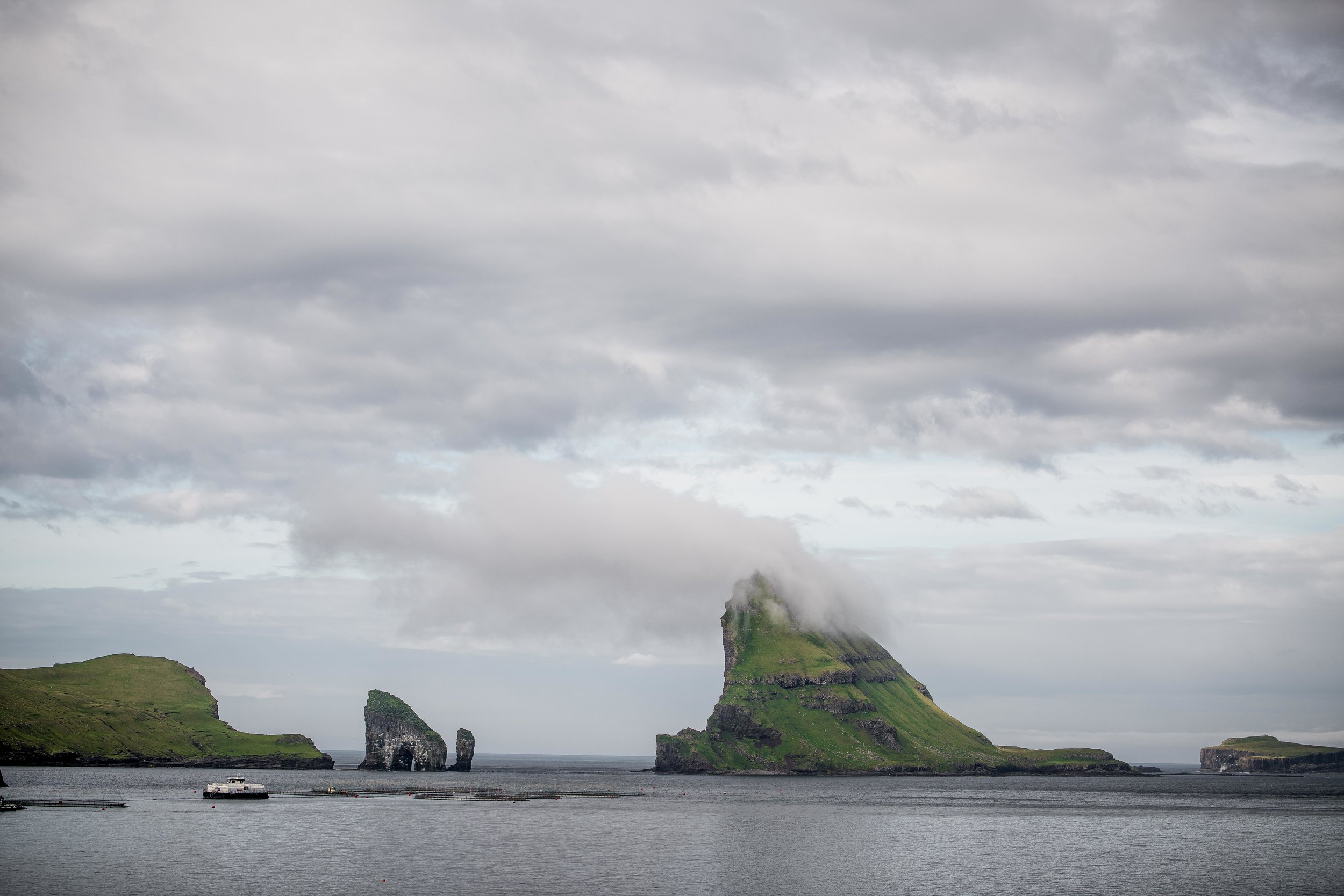 1. Drangarnir & Tindhólmur, crumbling into the sea