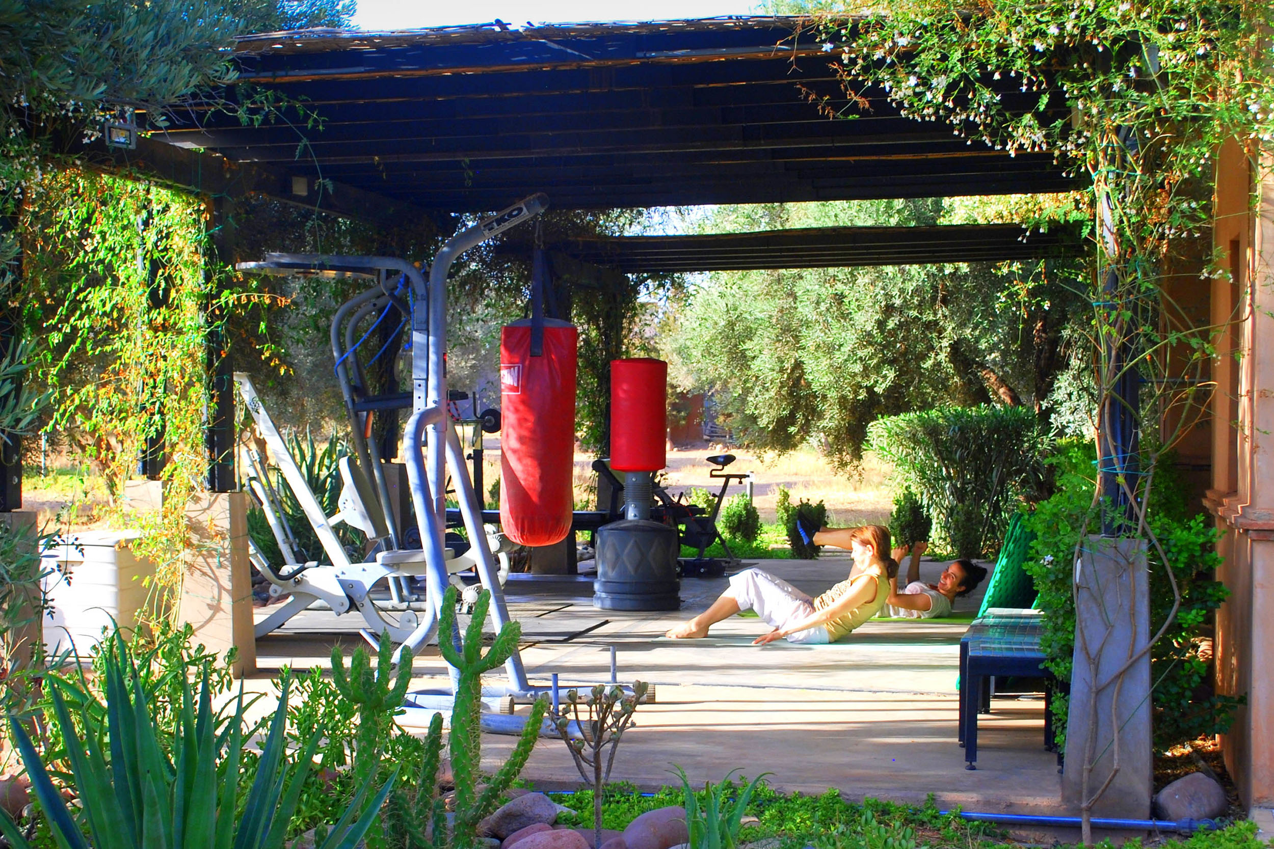 Exercise spaces - Some are poolside, some are in tents, all are lovely spaces