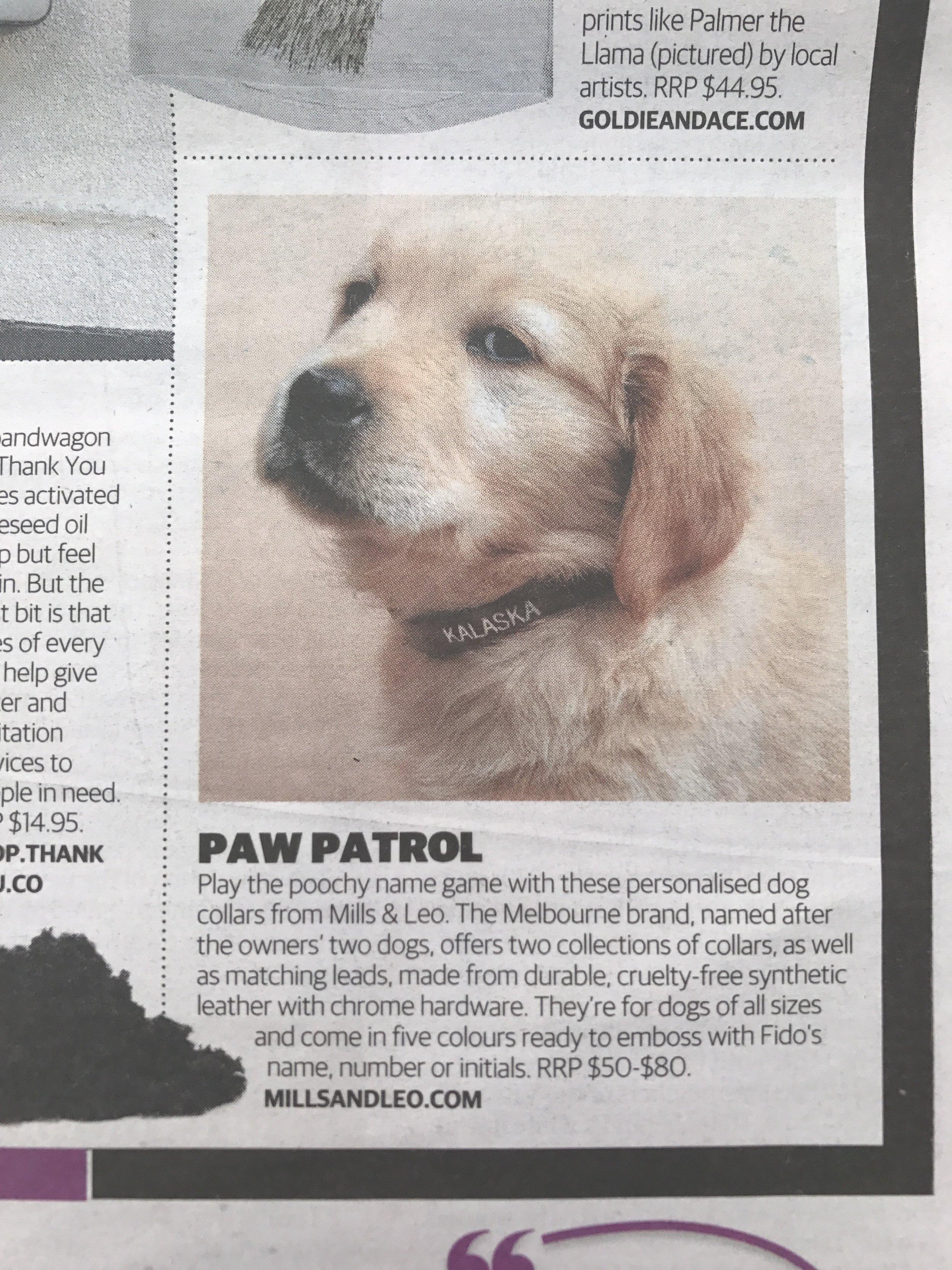 mills&LEO in The Herald Sun newspaper