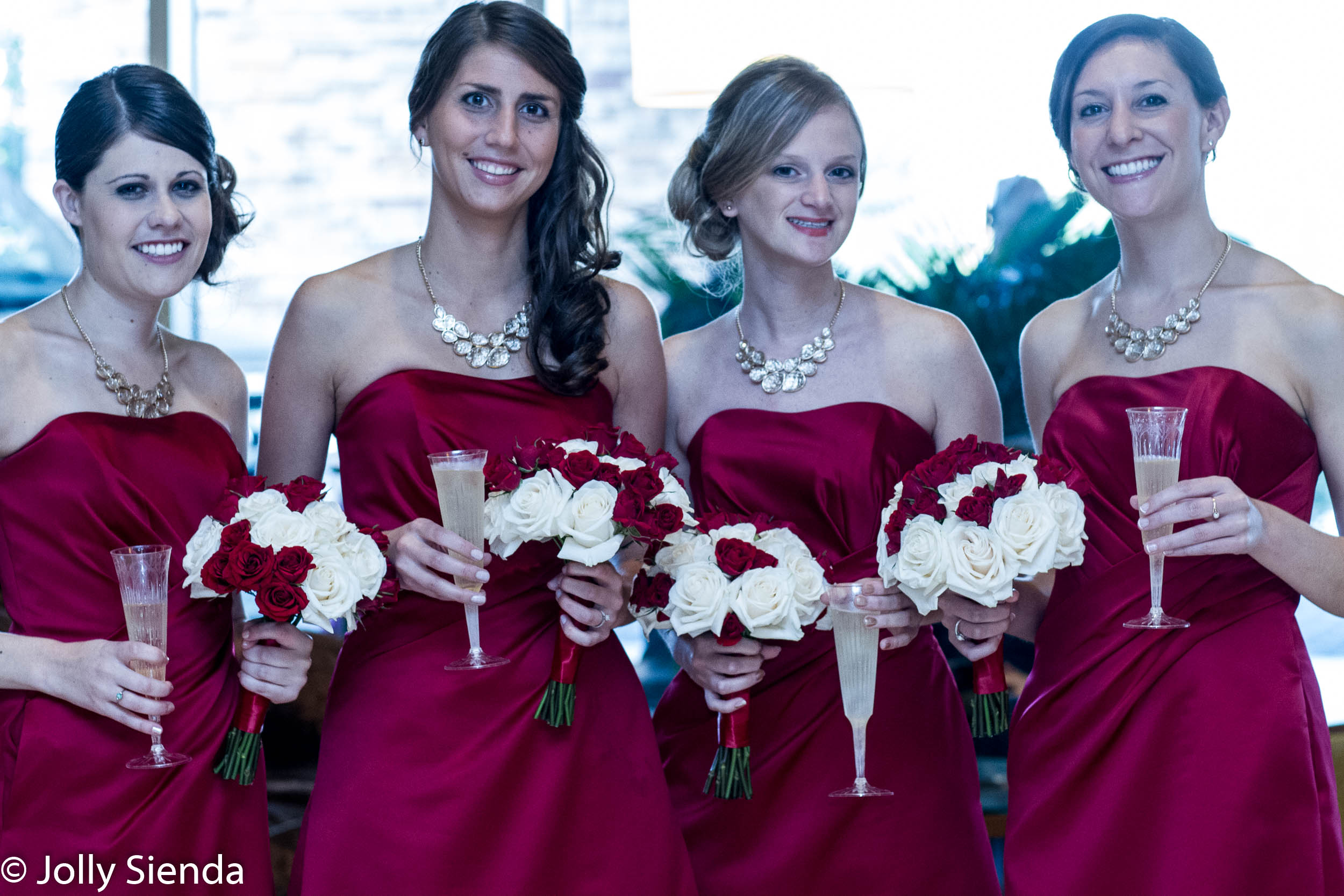 Romantic red for weddings, valentines, and events